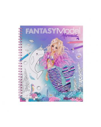 FANTASY MODEL Sequin Colouring Book Mermaid
