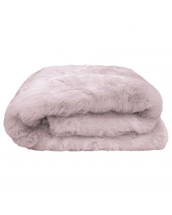 Faux Fur Throw Lilac 130x180