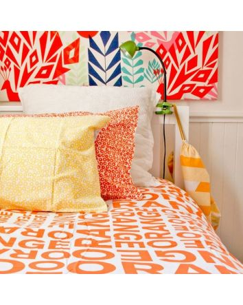 One Kind Orange Quilt Cover Single
