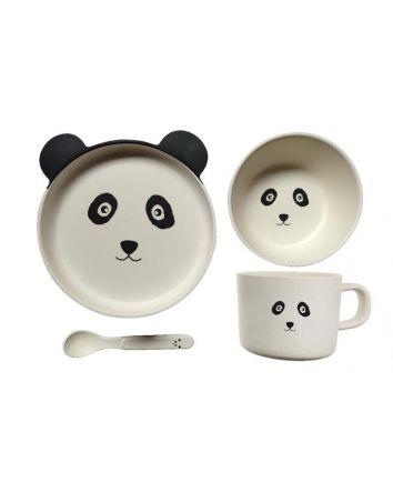 Kids Bamboo Dining Set Panda