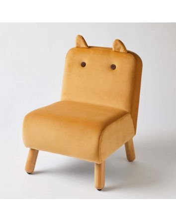 Kids Chair Mustard with Ears