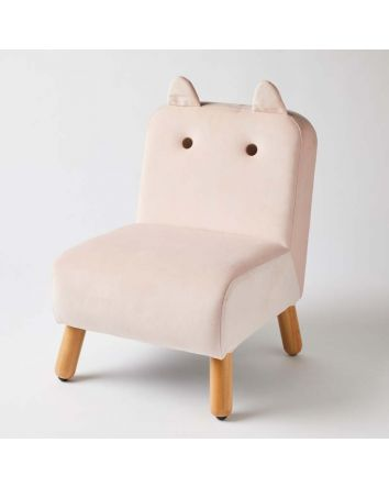 Kids Chair Pink with Ears