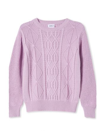 Milky Cable Knit Jumper Lilac