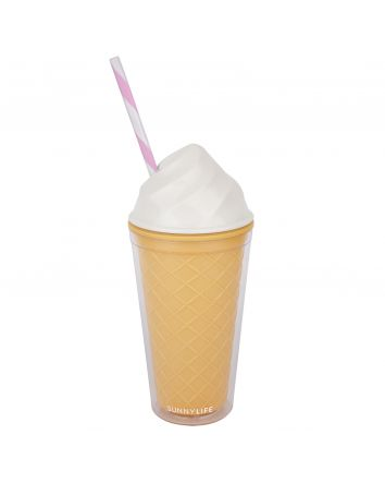 Ice Cream Tumbler- White