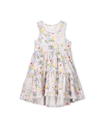 Milky Spring Floral Dress