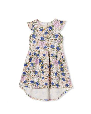 Milky Peony Floral Dress