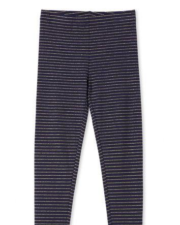 Milky Navy Stripe Leggings