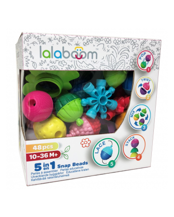 Lalaboom 48 Pce Snap Beads
