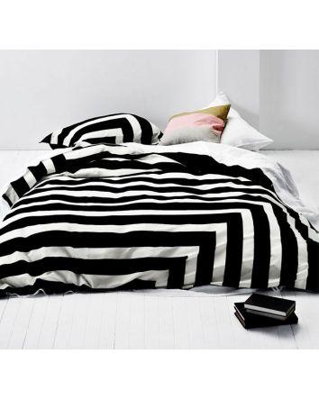 Aura Corner Stripe Quilt Cover Single