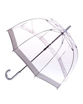 Adult Birdcage PVC Umbrella Silver