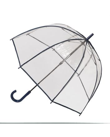 Adult Birdcage PVC Umbrella Navy Piping