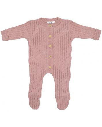 Korango Cable Knit Romper- Pink