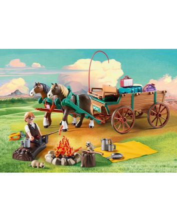 Playmobil Spirit Lucky's Father and Carriage