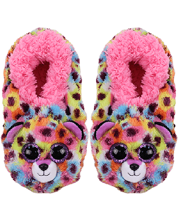 TY Beanie Boo Giselle the Leopard Slippers
