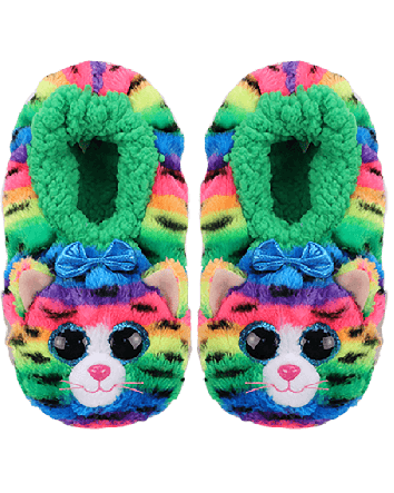 Tigerly the Rainbow Cat Slippers