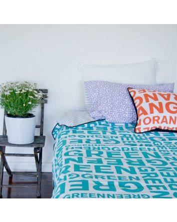 One Kind Green Quilt Cover Single