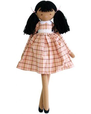 Alimrose Pippa Doll Pink Plaid