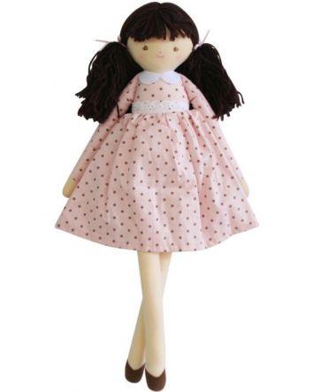 Alimrose Pippa doll Pink Spot