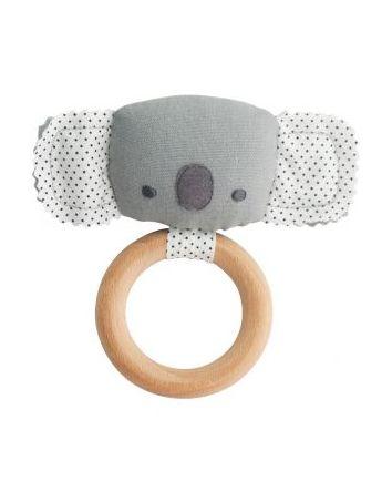 Alimrose Baby Koala Grey Teether Rattle