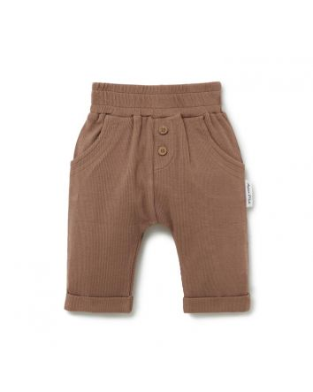 Aster & Oak COCOA RIB SLOUCH PANTS
