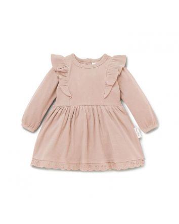 Aster & Oak CAMEO ROSE RUFFLE DRESS