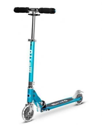 Micro Sprite Scooter w/ Light Up Wheels-Blue