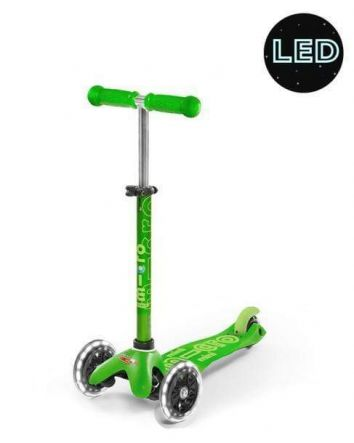 Mini Micro Deluxe Scooter - Green LED