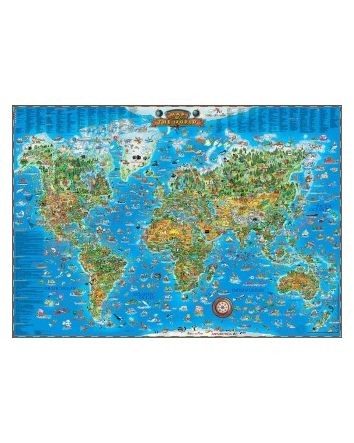 Blue Opal Around The World Map Puzzle 300pc