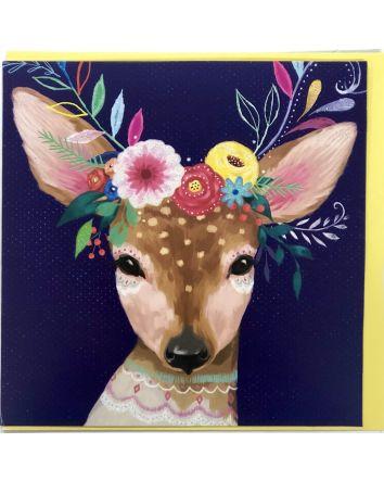 Boho Deer Card