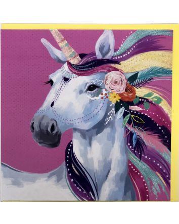Boho Unicorn Card