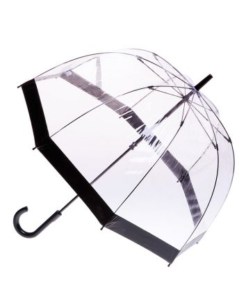 Adult Birdcage PVC Umbrella Black