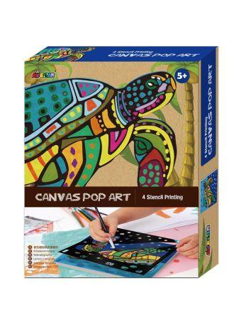 Canvas Pop Art Turtle
