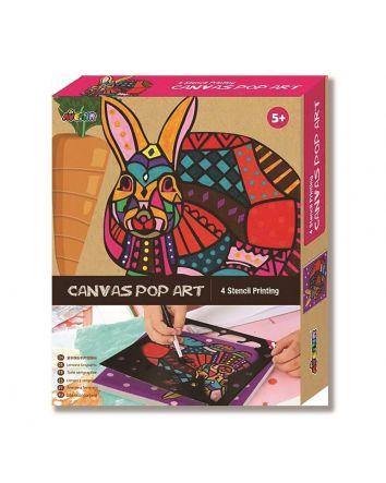 Canvas Pop Art Rabbit