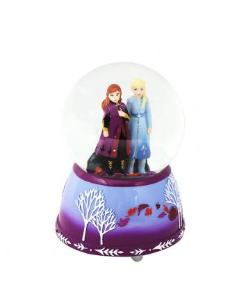 Frozen 2 Musical Snow Globe Elsa and Anna