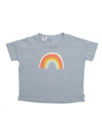 Rainbow Sky Tee- Ice Blue Slub