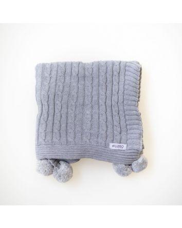 Sasha Baby Blanket- Grey
