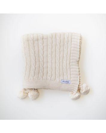 Sasha Baby Blanket- Natural
