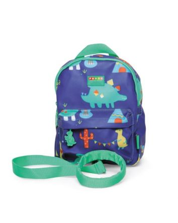 Penny Scallan Mini Backpack w/ Rein- Dino Rock