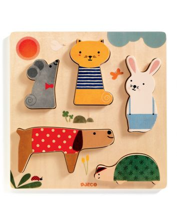 Woody Pets Puzzle 5pc