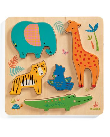 Woody Jungle Puzzle 5pc