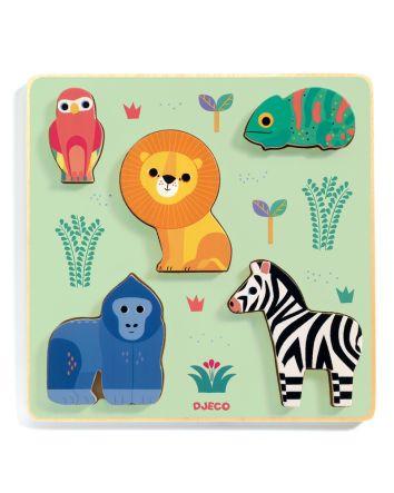Emilion Jungle Wooden Puzzle 5pc