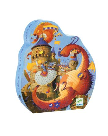 Vaillant And The Dragon Silhouette Puzzle - 54pc