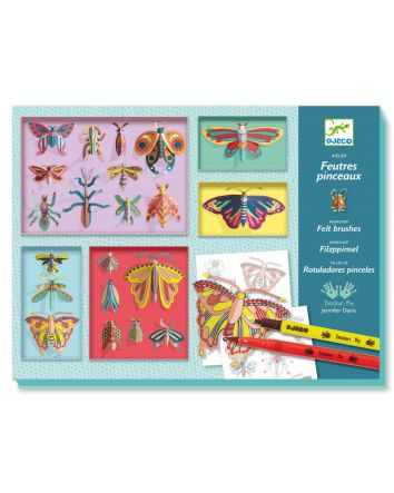 Djeco Felt Brush Butterfly Cabinet
