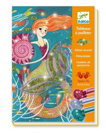 Djeco Glitter Boards Mermaids