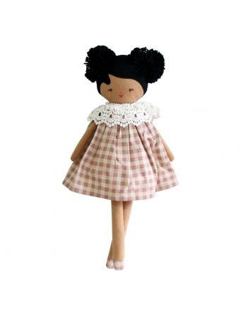 Alimrose Aggie Doll Rose check
