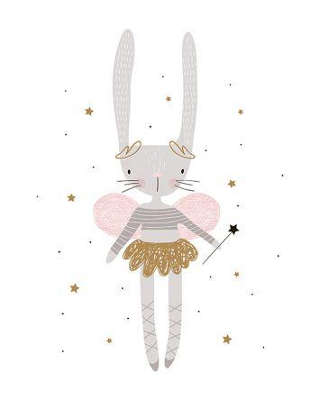 Delila the Fairy Bunny 40x60cm