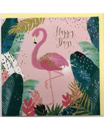 Pink Fizz Flamingo Card
