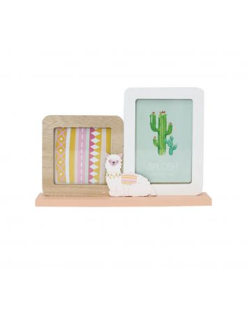 Furry Little Friends Llama Frame