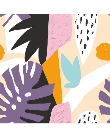 Bright Foliage Canvas Print 90x90xm