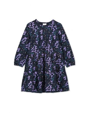 Milky Winter Floral Dress